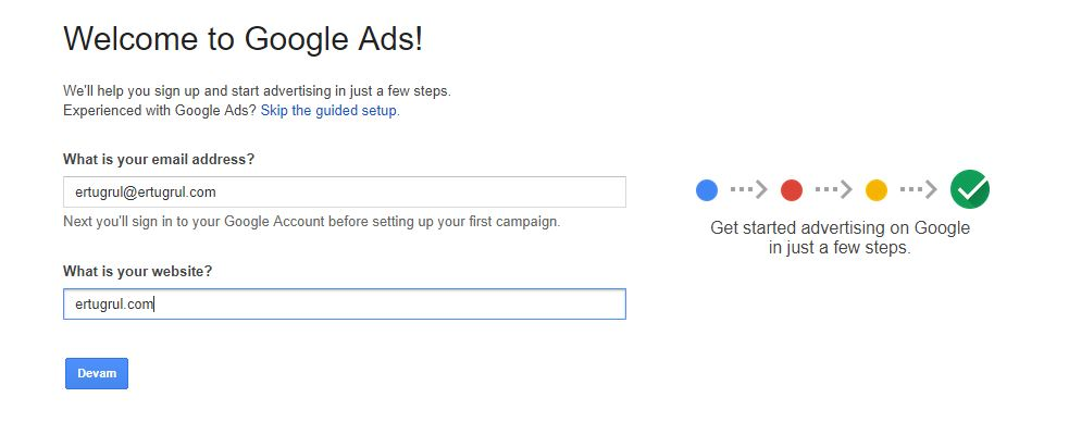 Google Ads AdWords Hesabı