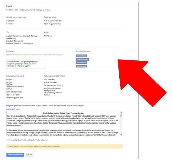 Google Ads AdWords Kurulum Özeti