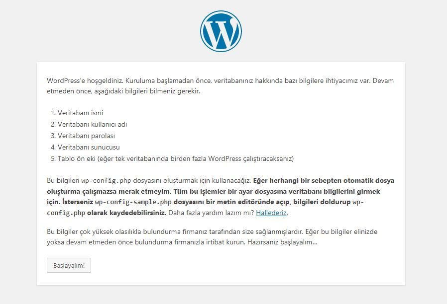 localhost wordpress kurulumu 1