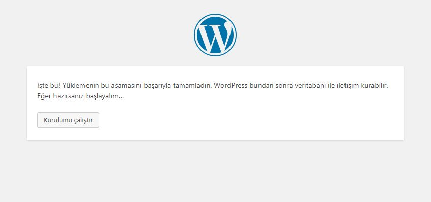 localhost wordpress kurulumu 3