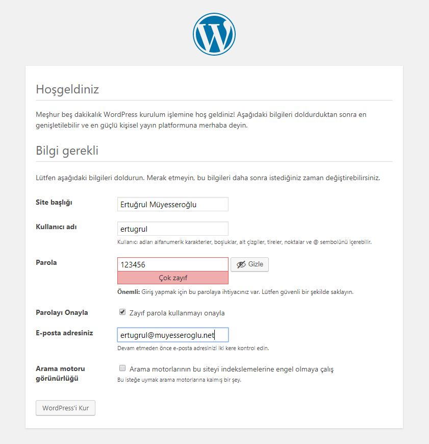 localhost wordpress kurulumu 4