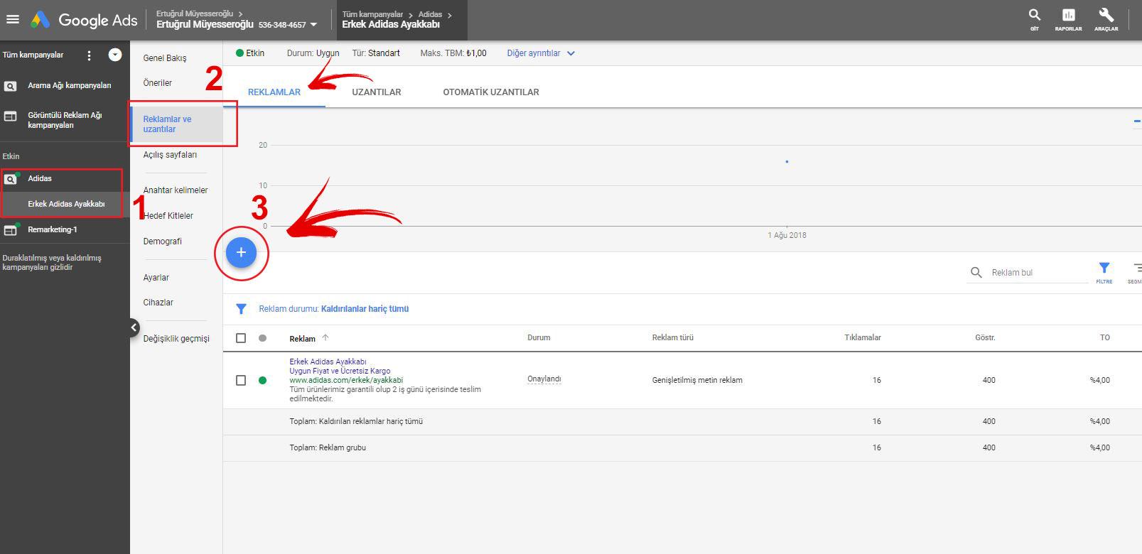 Google Ads AdWords Reklam Metni oluşturma