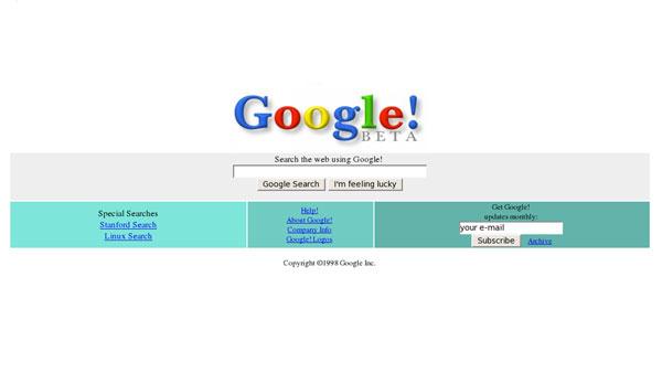 Google Beta 1998