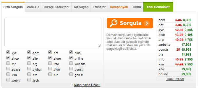 Domain Sorgulama Bulma