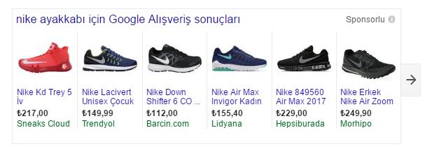Google AdWords Alışveriş Reklamları