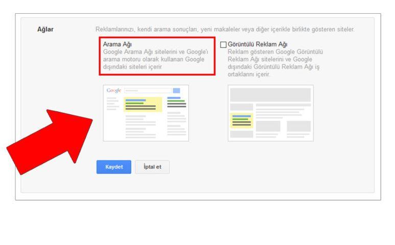 Google Ads AdWords Arama Ağı
