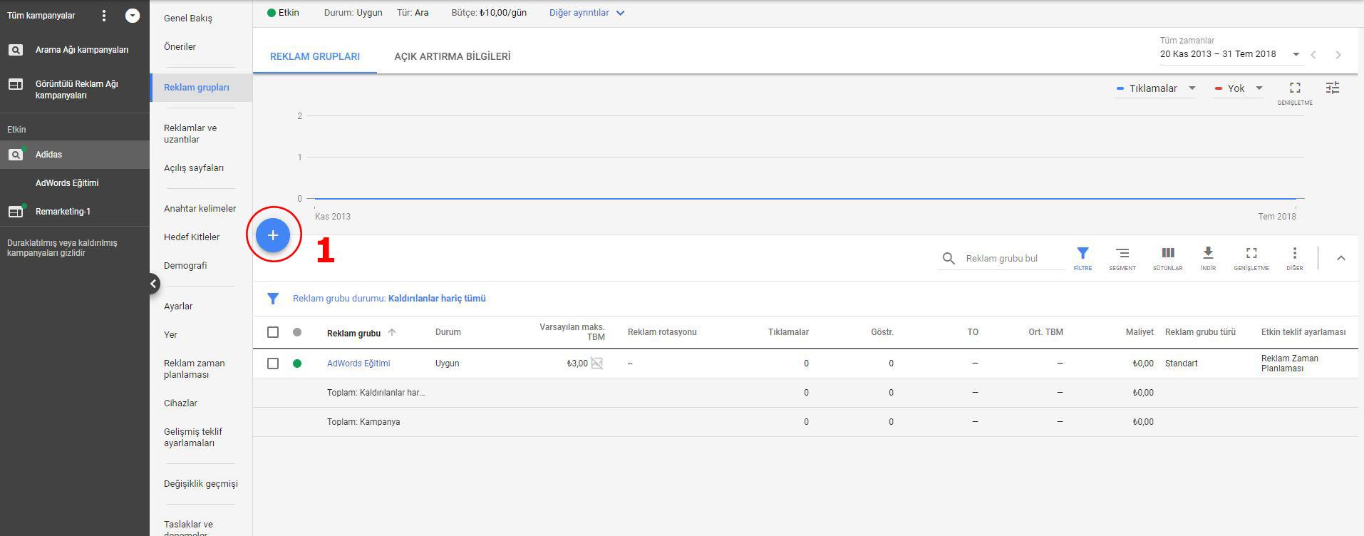 Google Ads AdWords Reklam Grubu Oluşturma