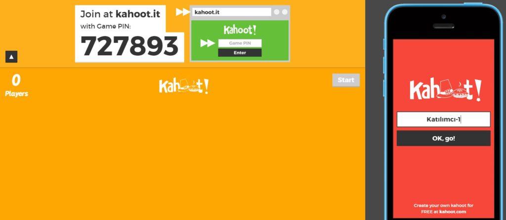 Kahoot Oyuncu Katılım Pin