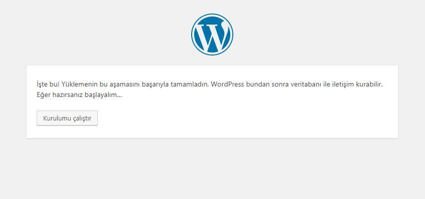 localhost wordpress kurulumu 3