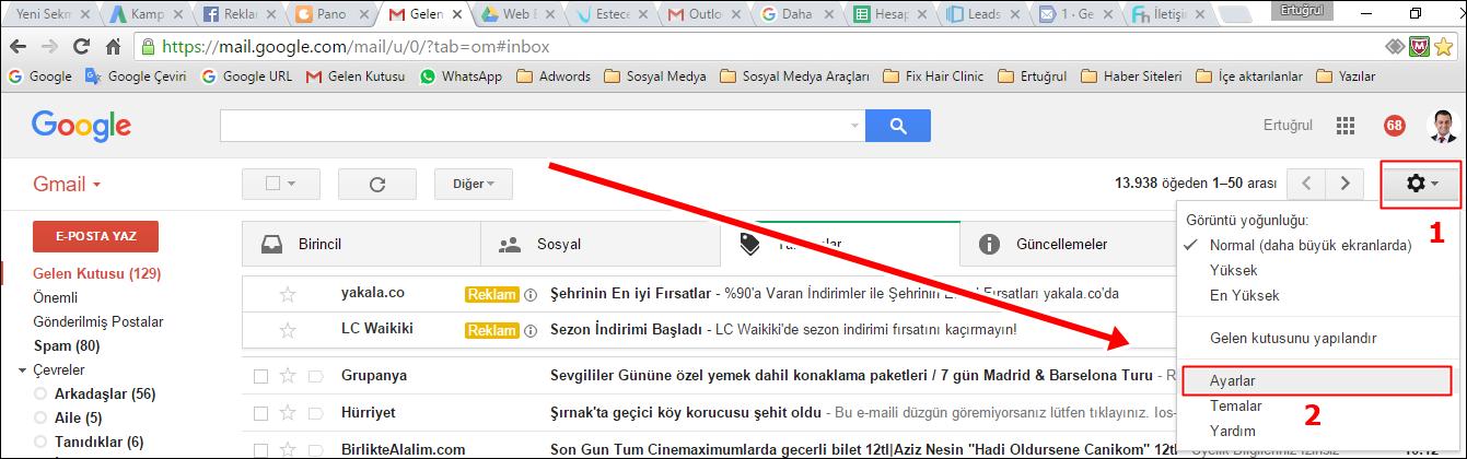 Outlook Gmail Kurulumu