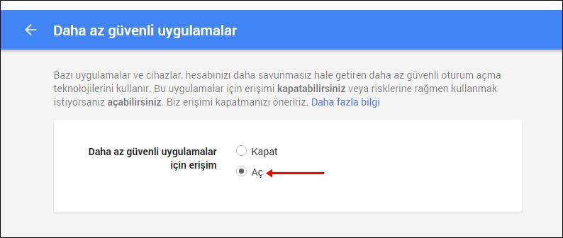 Outlook Gmail Kurulumu 3