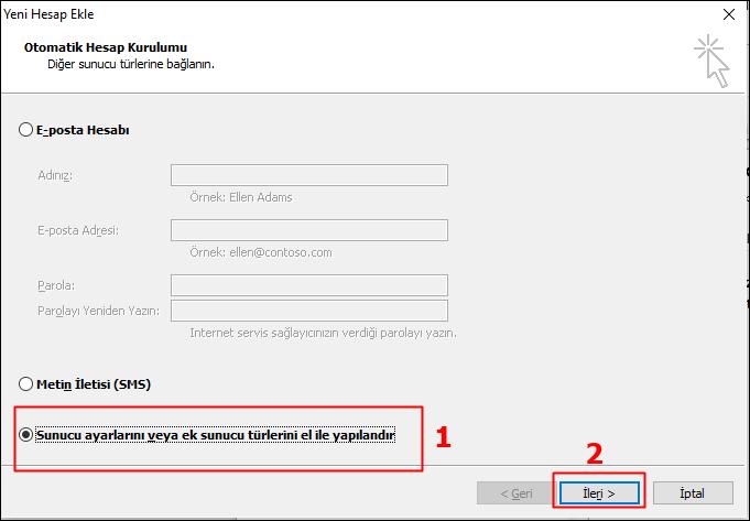 Outlook Gmail Kurulumu 5