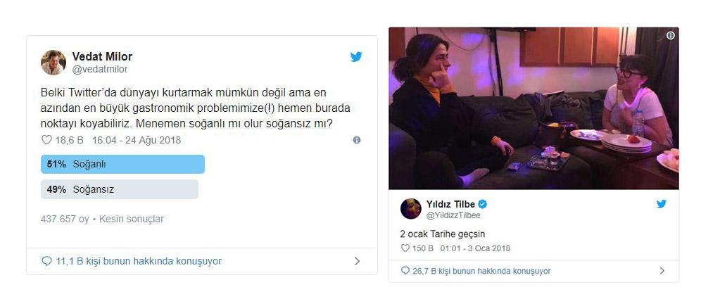 Twitter 2018 Vedat Milor Yıldız Tilbe Tweet