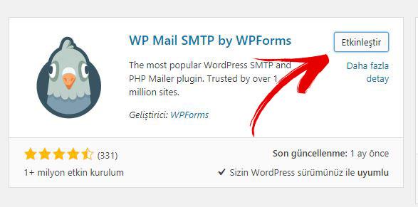 WP Mail SMTP by WPForms Etkinleştirme