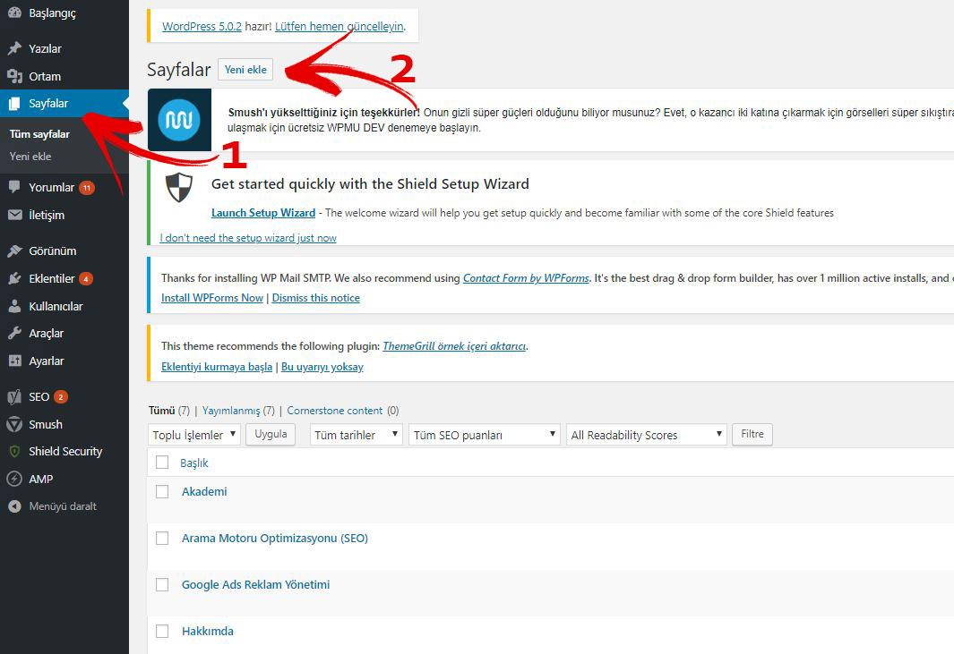 WordPress İletişim Sayfası Oluşturma