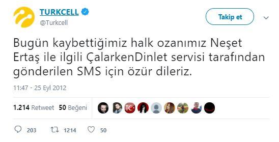 Neşet Ertaş Turkcell Özür