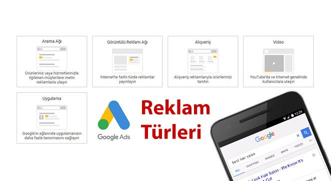 Google Reklam Türleri