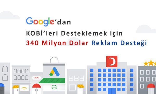 Google'dan KOBİ'lere 340 Milyon Dolarlık Reklam Desteği