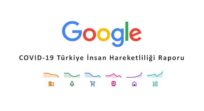 Google Türkiye'de İnsan Hareketliliğini Raporladı!